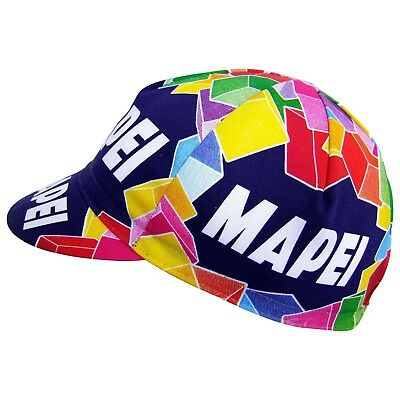 Mapei vintage cap cycling team bike bicycle made in Italy Coppi Bartali