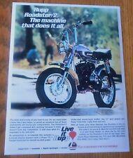 1971 RUPP ROADSTER 2 VINTAGE MINI BIKE MINICYCLE MINIBIKE SALES AD