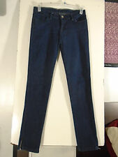 Women Juniors Tsubi Dark Skinny Stretch Zipper Leg Jeans, Size 5