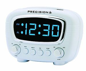 precision radio controlled led alarm clock blue display. Black Bedroom Furniture Sets. Home Design Ideas