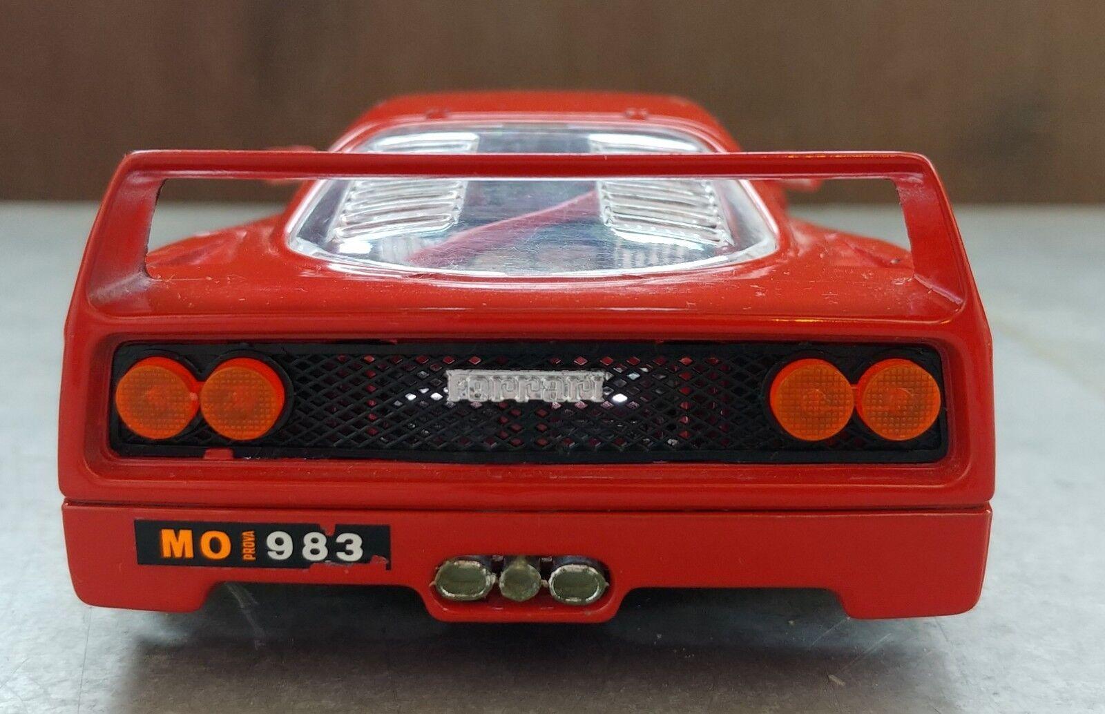 VINTAGE BBURAGO FERRARI FERRARI FERRARI F40 METAL KIT BIJOUX (1987) 1 24 MADE IN ITALY fe3694