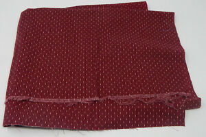 Vintage-Red-Burgundy-Dashs-amp-Dots-Quilting-Fabric