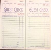 2 Pack G3616 Guest Checks Book Waitress Pad 15 Line 100 Page Booklet Paper