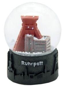 Schneekugel-Ruhrgebiet-Skyline-Zechenturm-Snowglobe-Germany-Souvenir