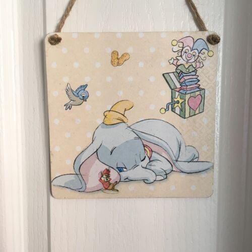 Disney Dumbo Wooden Hanging Handmade picture bedroom//nursery Decor Newborn Gift