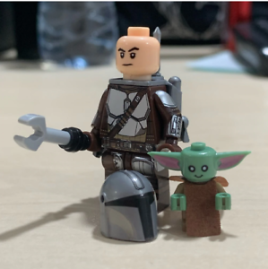 Mandalorian-W-Baby-Yoda-Minifigures-Rise-Of-Skywalker-Star-Wars-9-Lego-MOC-2020
