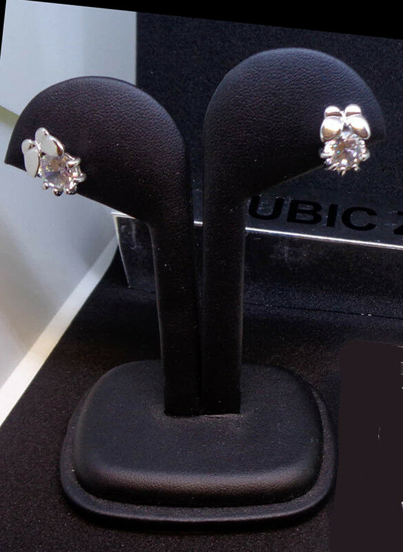 Butterfly with Flower Designer Cubic Zirconia Earrings