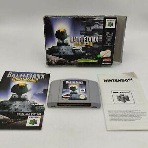 Battletanx Global Assault Nintendo 64 n64 juego como nuevo embalaje original probado