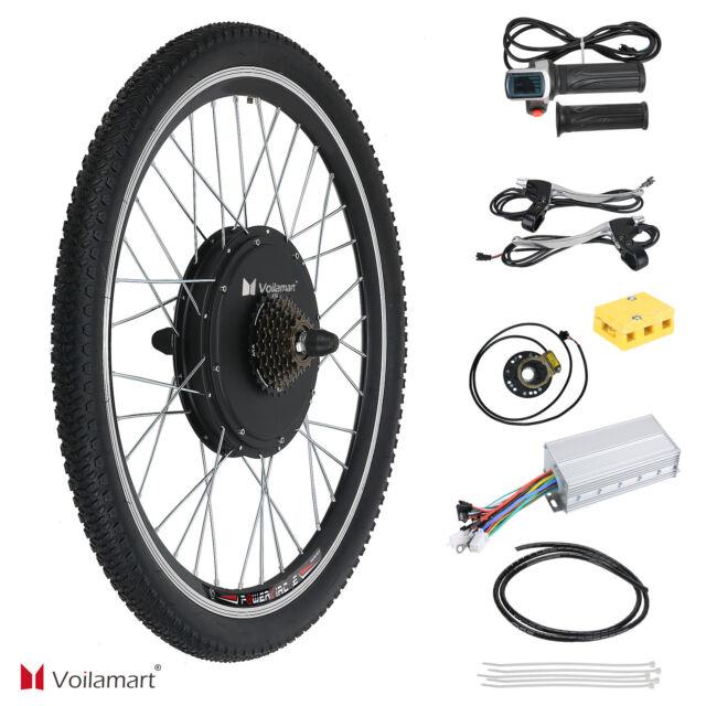 """48V 1500W Bicyclette Électrique Moteur Kit Conversion Cyclisme Vélo Moyeu 26 """""""