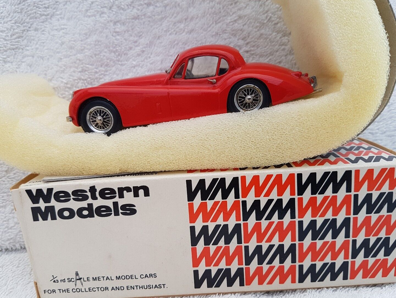 Westliche modelle 1   43 modell - auto wms45 1951 jaguar xk120 fhc - rot