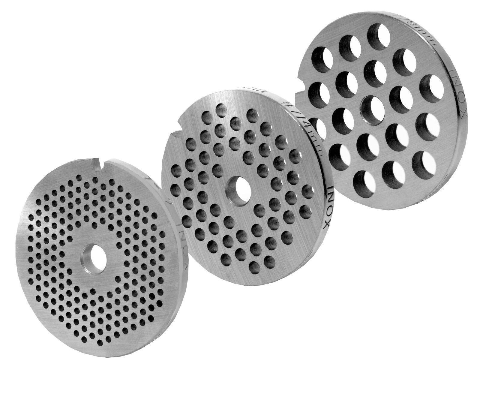 Perforated DISC SET FOR Mincer Sizes 7 0 3 32in+0 5 32in+0 5 16in