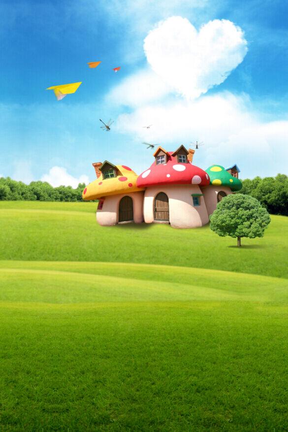 3D Petite Maison 59 Photo Papier Peint en Autocollant Murale Plafond Chambre Art
