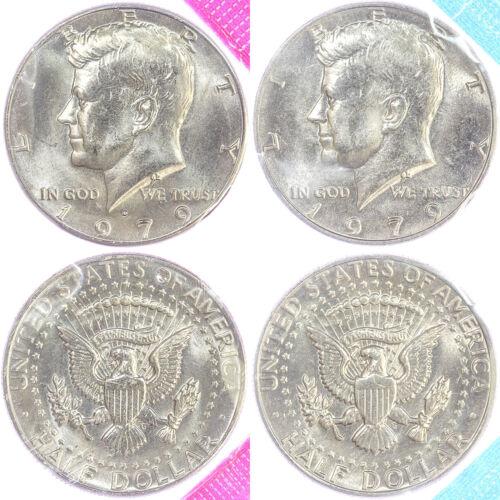 1979 P D Kennedy Half Dollars BU US Mint Cello 2 Coin Set