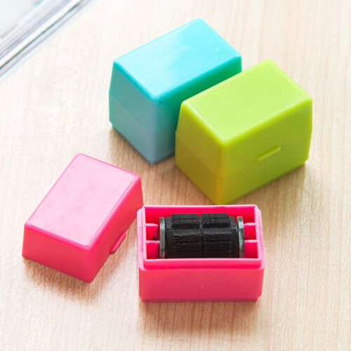 2PCS Roller Type Garbled Confidential Seal Guard Your ID Roller Stamp Messy Code