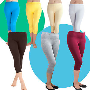 Leggings-kurz-Capri-Hose-in-7-Farben