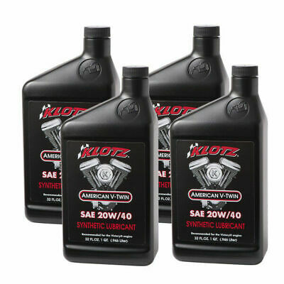 Klotz V Twin Synthetic Motorcycle Oil 20w 40 Oil 32oz