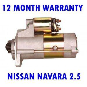 NISSAN-NAVARA-2-5-2005-2006-2007-2008-2009-2010-2015-STARTER-MOTOR