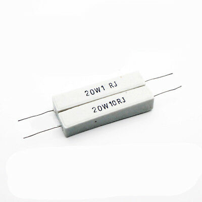 5 PIECES Ceramic Resistor 1.5 R 5W 1.5R Ohms 5 watts 5 W USA FREE SHIP