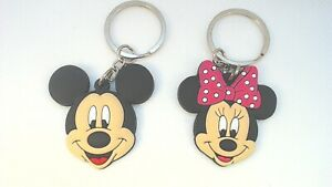 1-5-034-x2-Mickey-Mouse-Minnie-Disney-Channel-PVC-Keychain-Lot-USA
