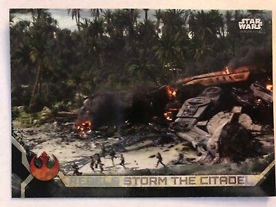 Star Wars Rogue One Series 2 Black Base Card #75 Rebels Storm the Citadel
