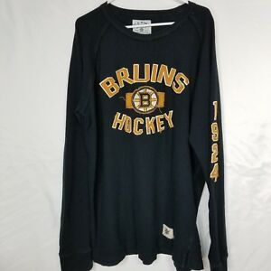 BOSTON-BRUINS-2XL-Mens-Old-Shirt-Time-Hockey-Causeway-Collection-Long-Sleeve
