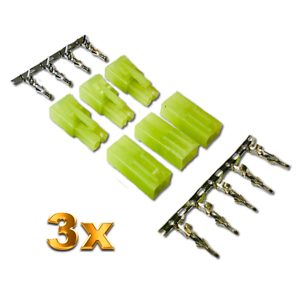 10 Stück Tamiya Stecker Male Kupplung Lipo Akku 13,4mm RC Car Adapter Plug Buchs