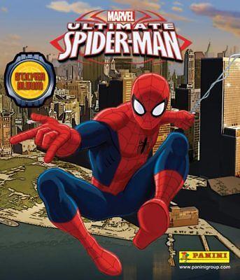 PANINI MARVEL ULTIMATE SPIDER-MAN  COMPLETE 192 STICKER SET /& ALBUM 2014