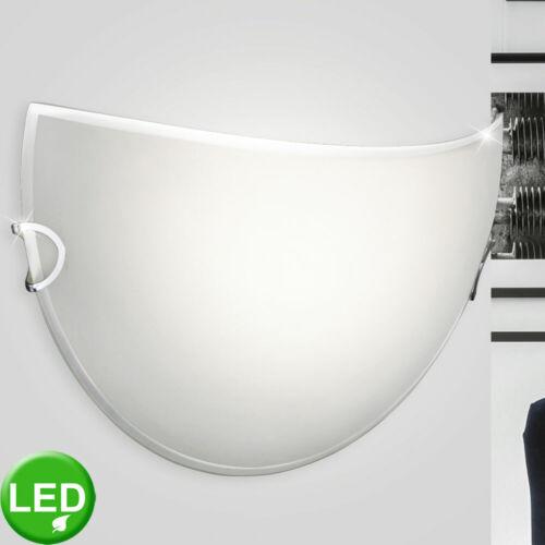 LED Wand Leuchte weiß Glas satiniert Wohn Ess Zimmer Beleuchtung halbrund Lampe