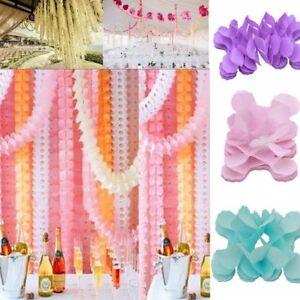 Tissue Paper Clover Hanging Garland Wedding Birthday Party Indoor Decor 3M DIY