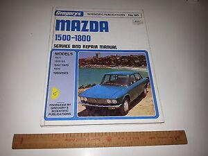 gregorys workshop service repair manual no 90 mazda 1500 1800 1967 rh ebay com au 1980 Mazda 1966 Mazda