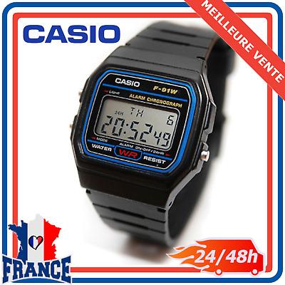 Montre Homme de Collection Casio Digitale Étanche Bracelet en Plastique F 91W 1   eBay