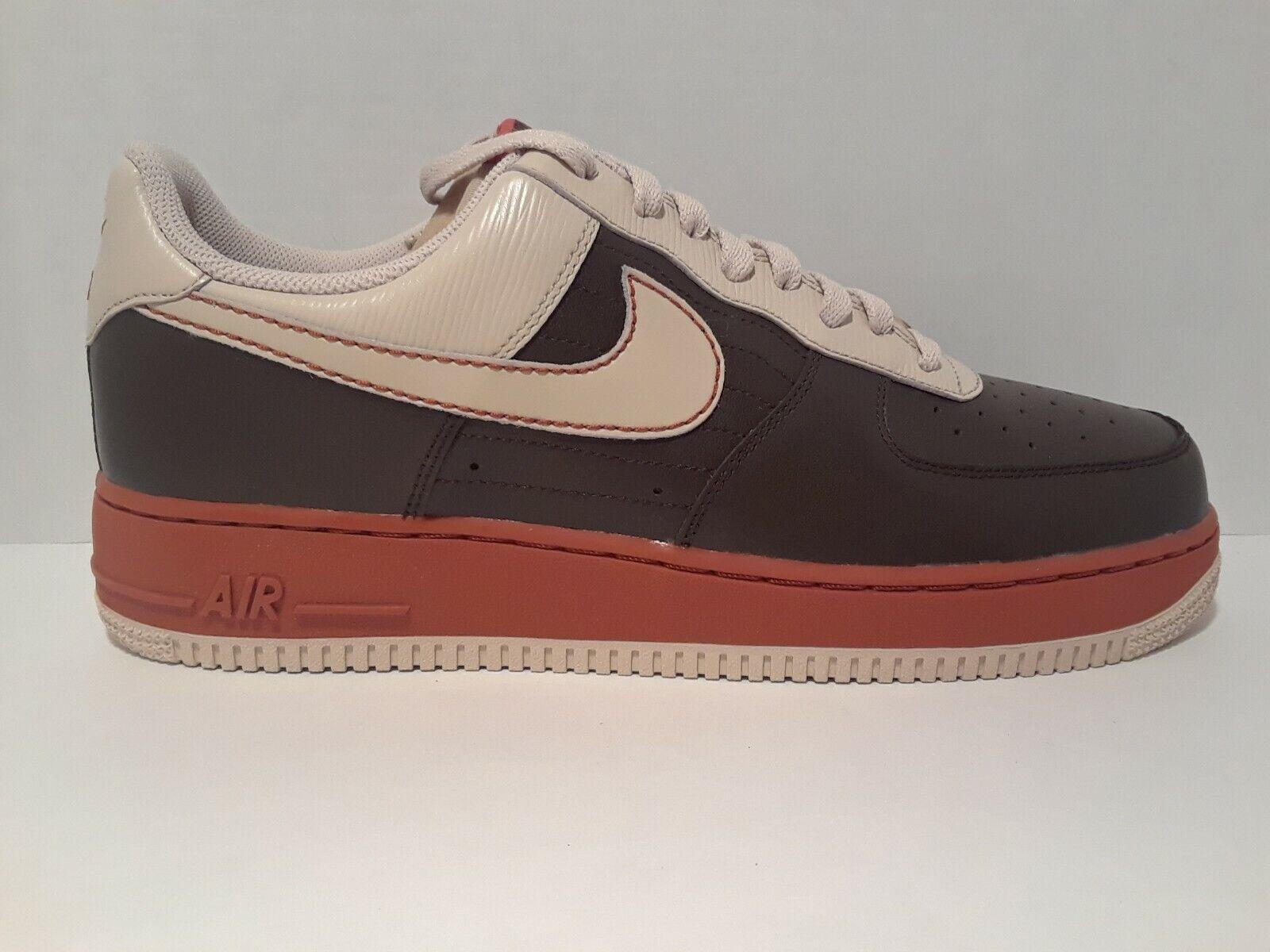 Nike Air Force 1 Mens  07 Cinder Brown Sanddrift orange  Bege  315115  211 New