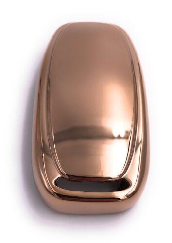 Auto Schlüssel Cover Hülle Soft Silikon Case Für div Audi Fahrzeuge Golden