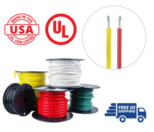 12 AWG Marine Wire Tinned Copper Boat Cable 25 ft Red 25 ft Yellow USA Made