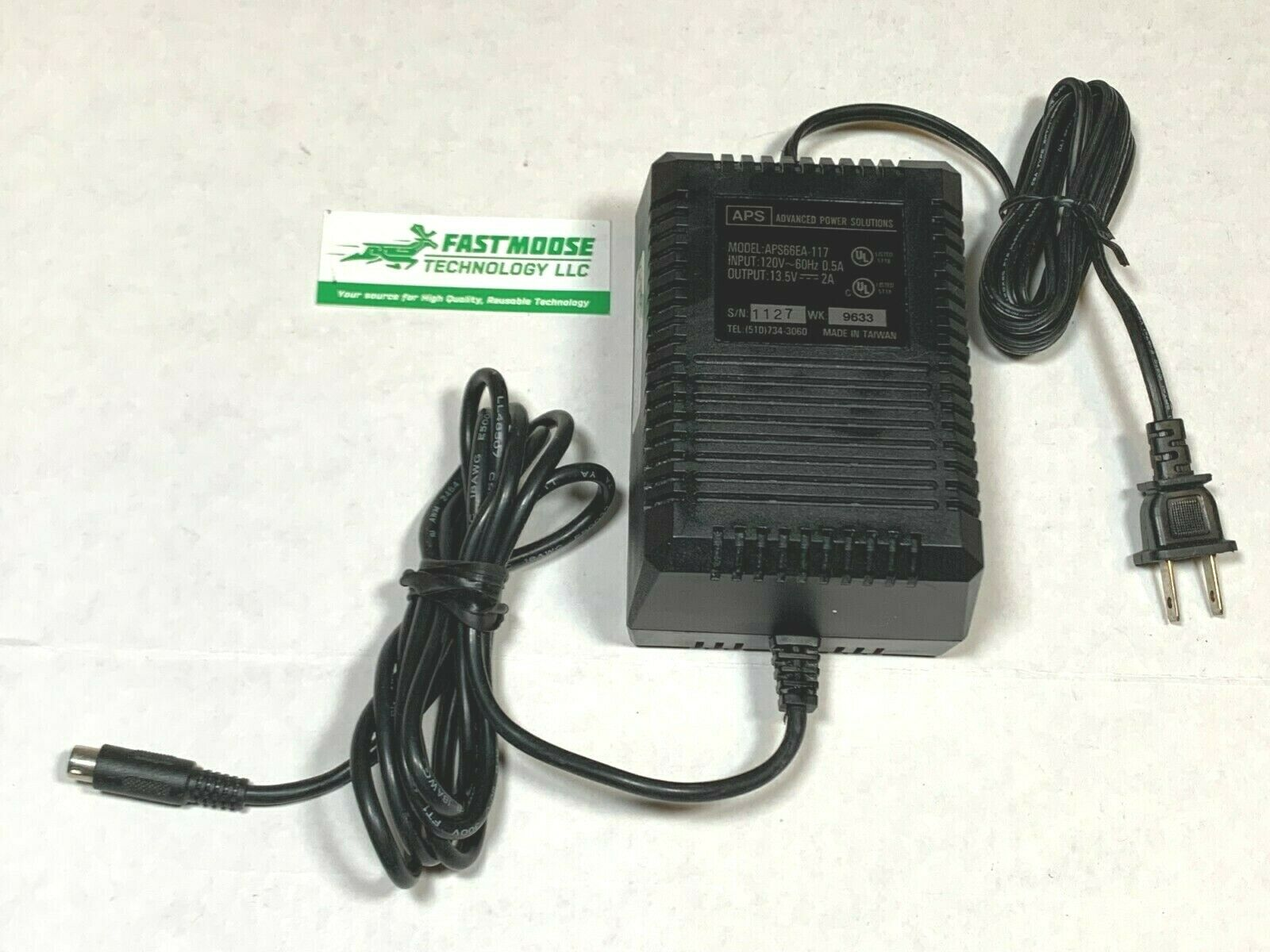 Genuine Advanced Power Solutions APS66EA-117 27W 13.5V 2A 6-Pin NA1 34-0767-01