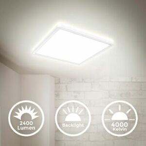 LED-Panel-Deckenlampe-dimmbar-ultraflach-Deckenleuchte-Wohnzimmer-Flur-weiss