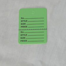200 GREEN Small (1.1/4 x1.7/8) Perforated Unstrung Price Consignment Store Tags