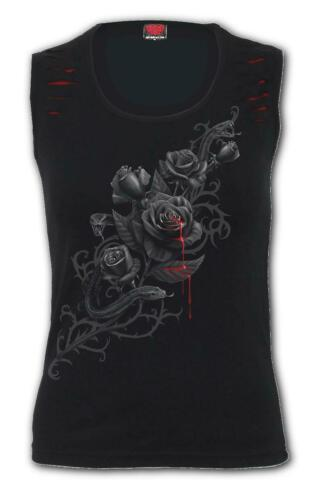 Spiral Direct Fatal Attraction Red Ripped Sleeveless Top