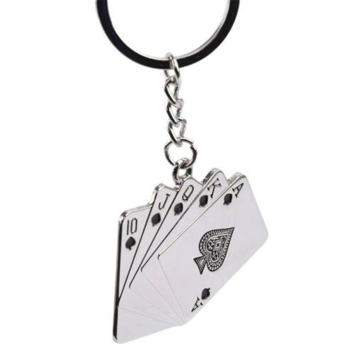 Details about  /Cute Mini Poker Playing Card Car Key Ring Chain 3D Keyfob Keychain Keyring LB