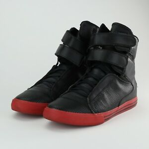 size 40 0b85b 83cff Image is loading SUPRA-TK-SOCIETY-SIZE-9-5-BLACK-RED-