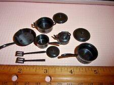 dollhouse miniature 10pcs G6206 1//12 scale Pots Black plastic  Kitchenware