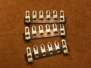 Lot-of-3-New-6-Lug-Phenolic-Terminal-Strips-with-Solder-Lugs-for-Tube-Amplifiers