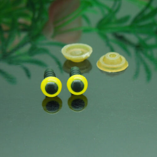 6mm Yellow Color Plastic Safety Eyes For Teddy Bear//Dolls// Animal Puppet Making