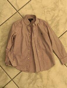 Camicia-Ralph-Lauren-taglia-6-anni-cotone-righe-ORIGINALE