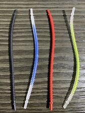 19L Blue Center Pattern Trans-Clear 8mm Ends 4 NEW LEGO Hose Flexible Ribbed