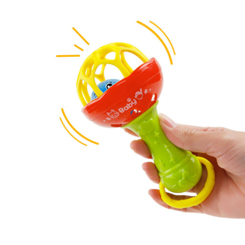1 Pc Develop Baby Intelligence Gums Plastic Hand Bell Rattle Xmas Birthday Gifts