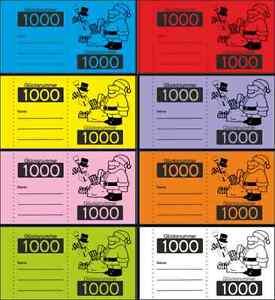 1000 Glücksnummer Doppelnummern wählbar  6 F Nr.