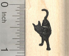 Rubber Stamp A17406 WM Kitty Tail end Kitten Tiny Cat Silhouette