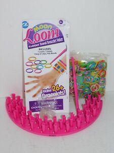 Moon-Loom-Bracelet-Maker-Pink-Set-Kids-Craft-Kit-Rubber-Bands