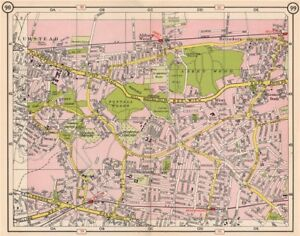Map Se London.Details About Se London Plumstead Abbey Wood Belvedere East Wickham Welling 1953 Old Map